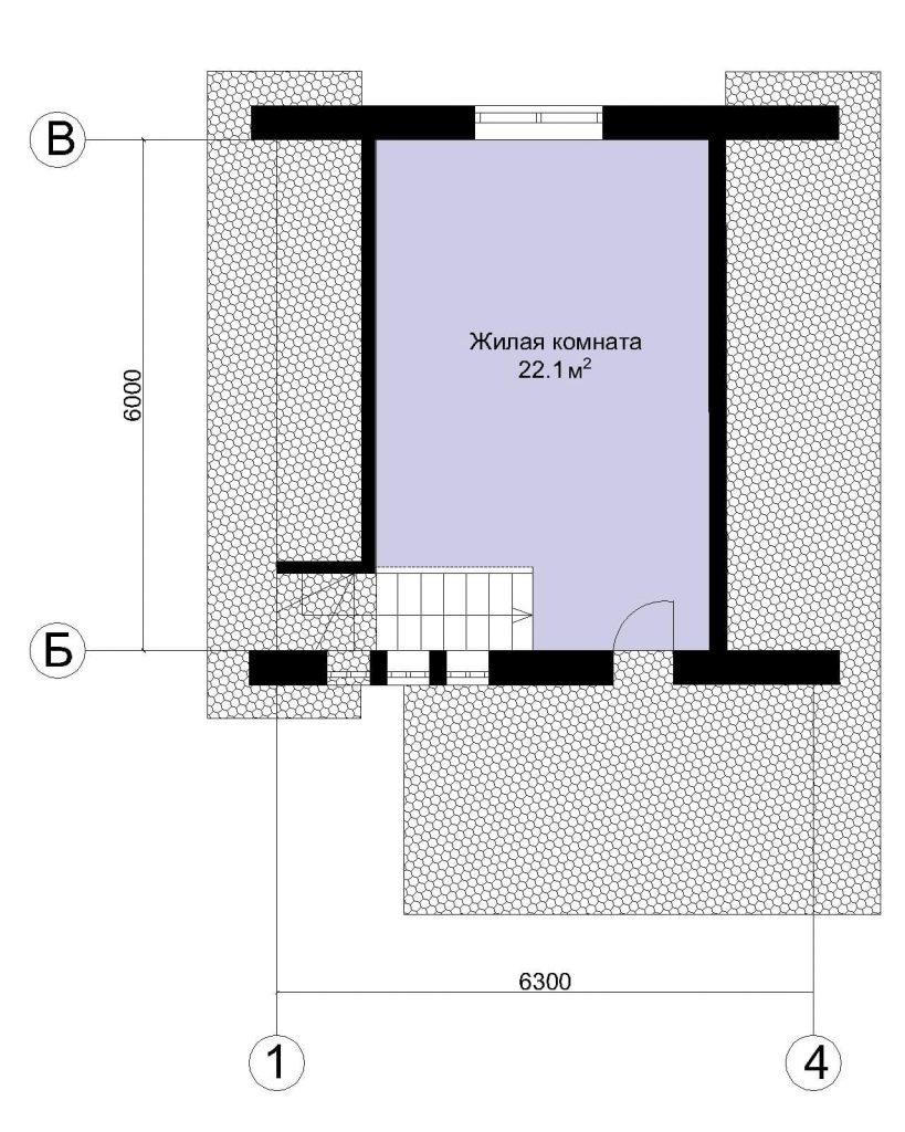 Планировка мансардного дома с гаражом