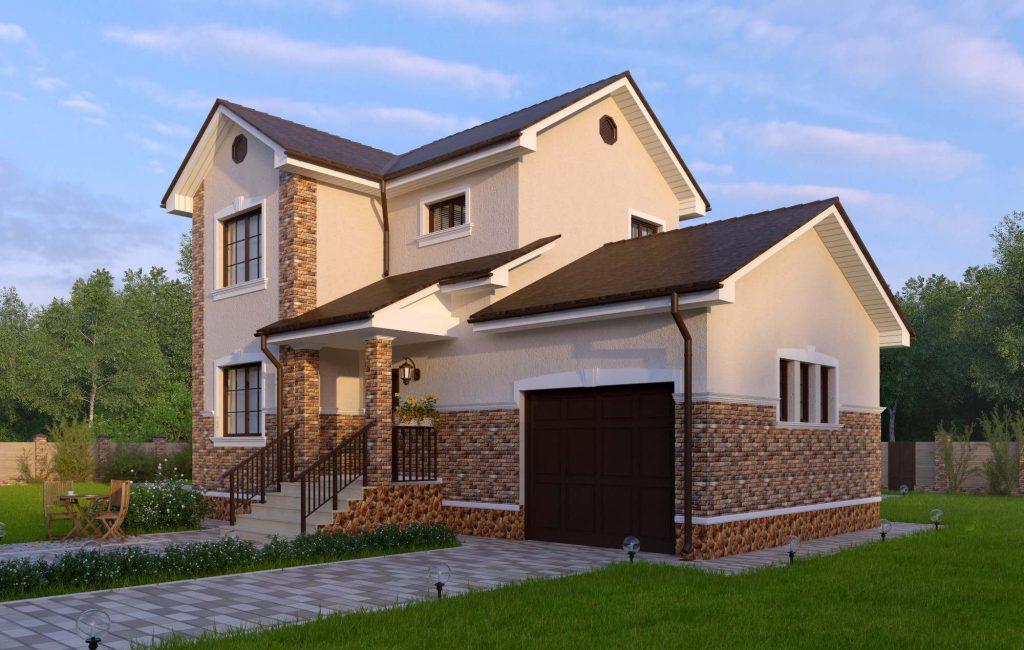 Проект двухэтажного дома