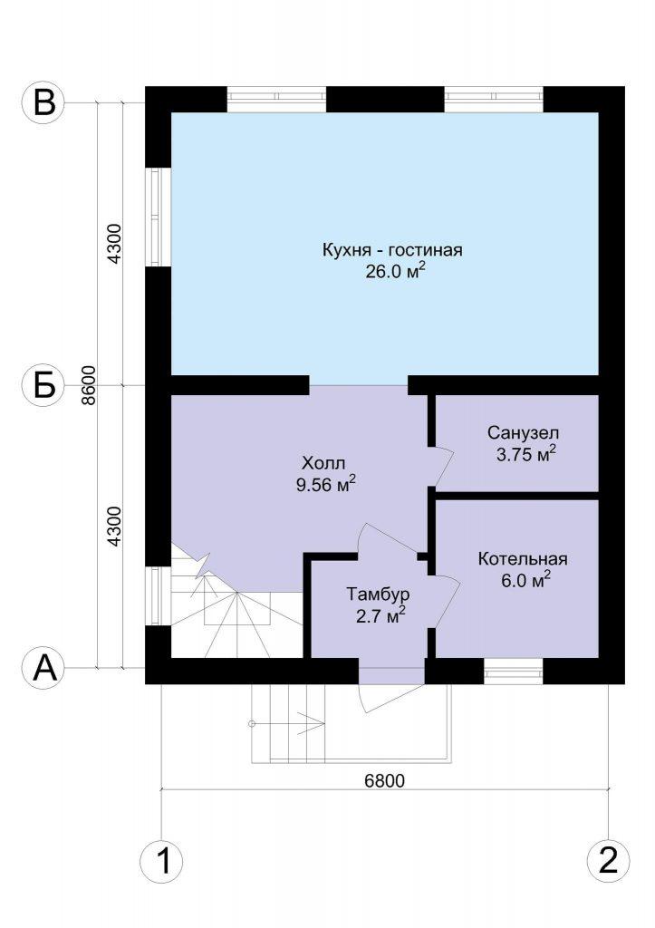 Планировка мансардного дома
