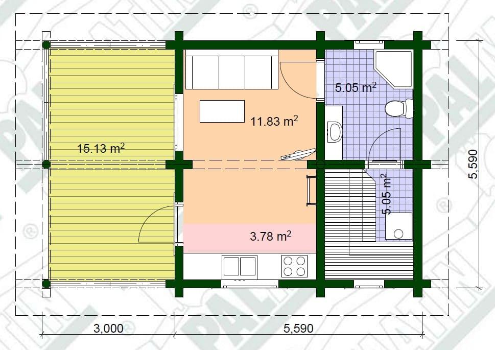Планировка деревянного дома в Беларуси