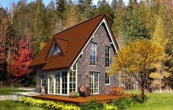 дом для проживания из керамзитобетона